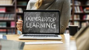 learn, student, laptop